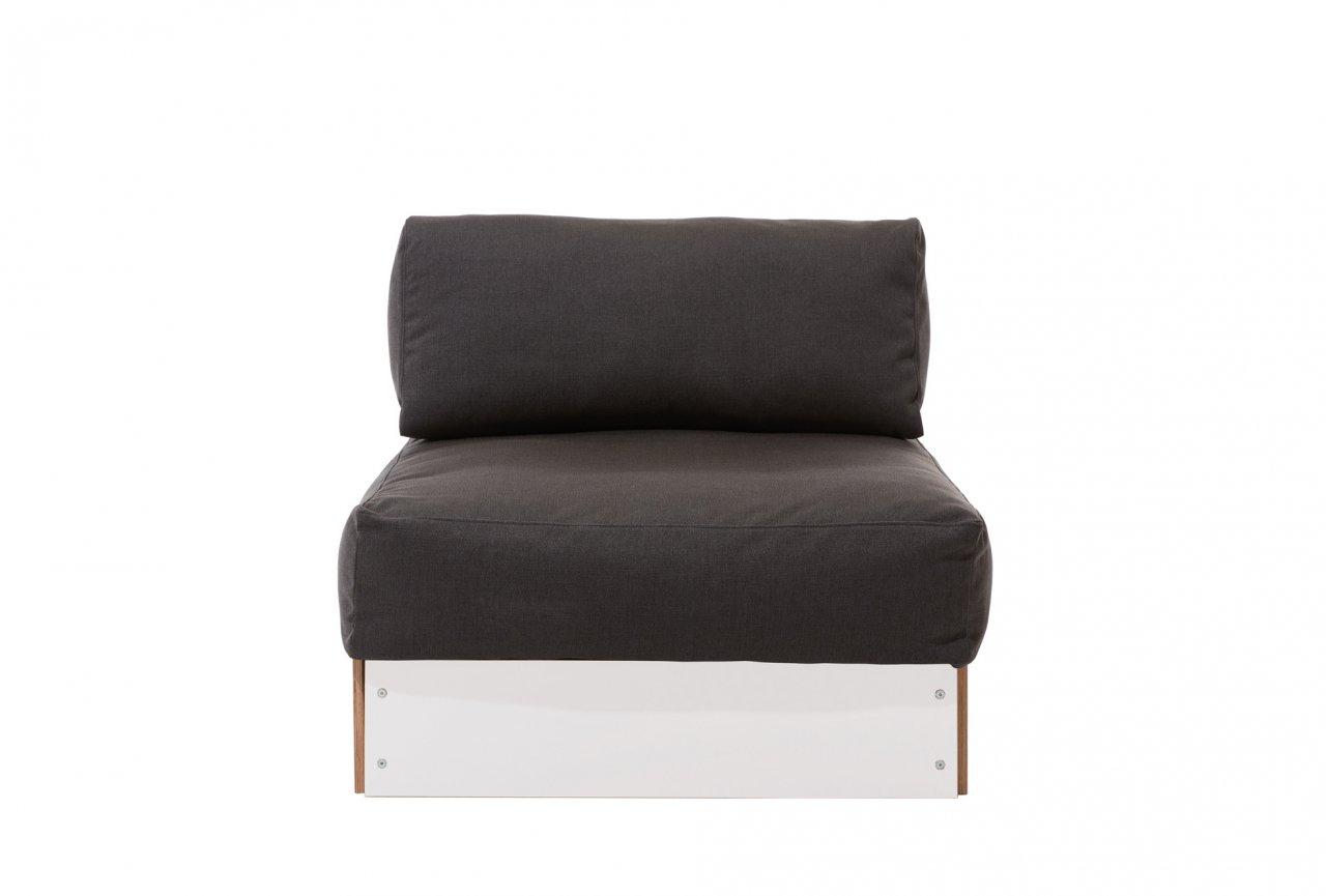 Sofabank Einzelelement Weiss