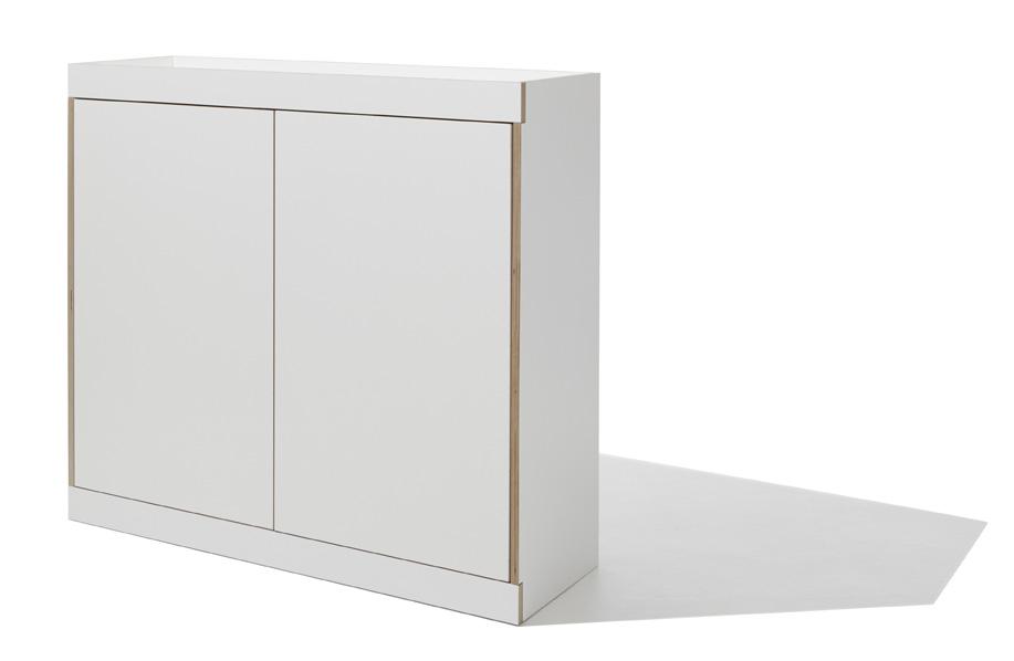 FLAI Kommode weiß (zwei Türen) Detailbild 2