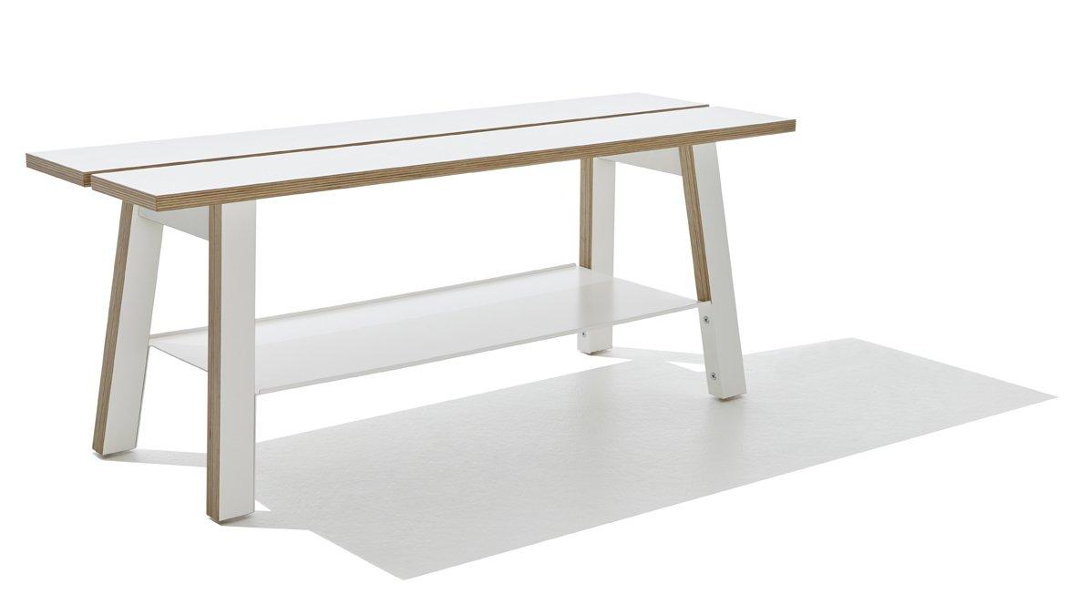 Corobench Sitzbank weiß