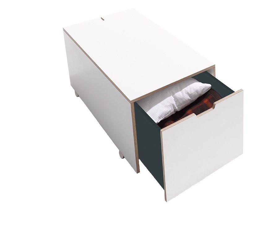 Bed Drawer 16 Komfort With Drawer White Birch