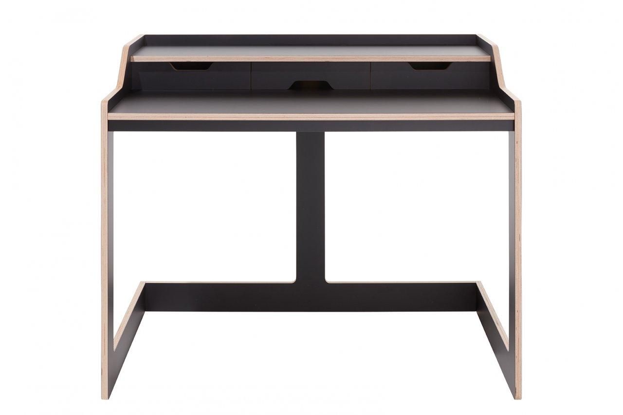 Plane Schreibtisch schwarz matt