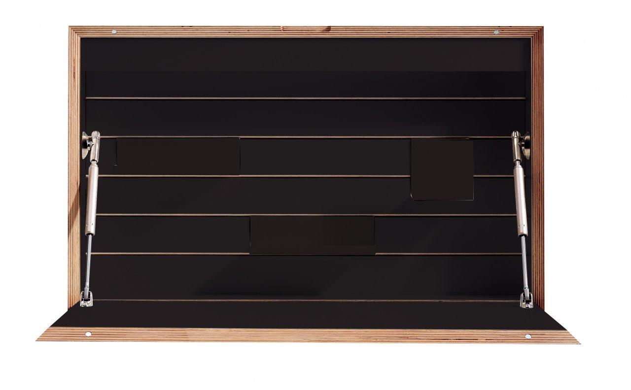 Flatbox schwarz matt frontale Ansicht