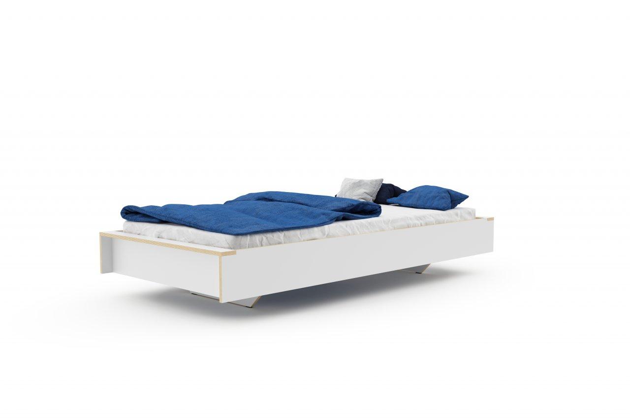FLAI Einzelbett weiß