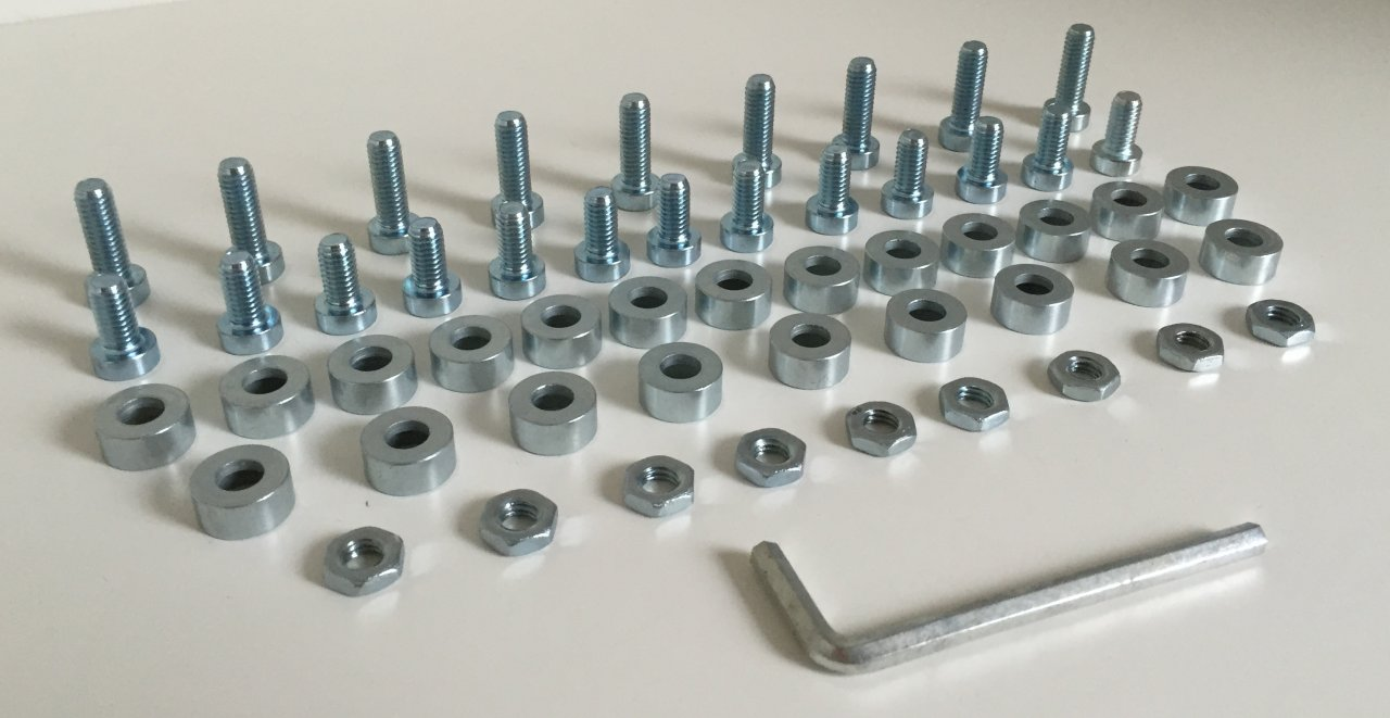 Screw set for the Stacking Bed without angle