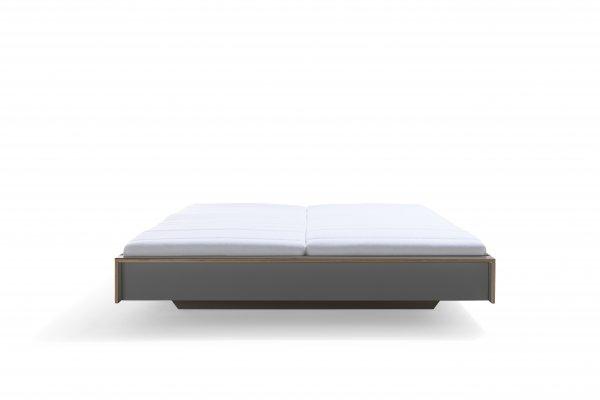 Das Design-Bett FLAI, anthrazit, ohne kopfteil