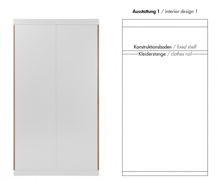flai 2 t riger kleiderschrank kaschkasch m ller m belwerkst tten. Black Bedroom Furniture Sets. Home Design Ideas