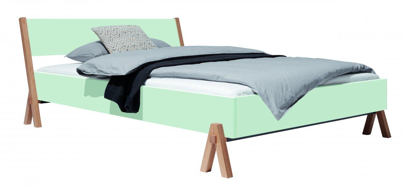 BOQ Bett farbig lackiert