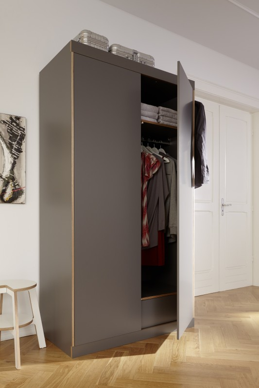 flai 2 t riger kleiderschrank kaschkasch m ller m belwerkst tten. Black Bedroom Furniture Sets. Home Design Ideas