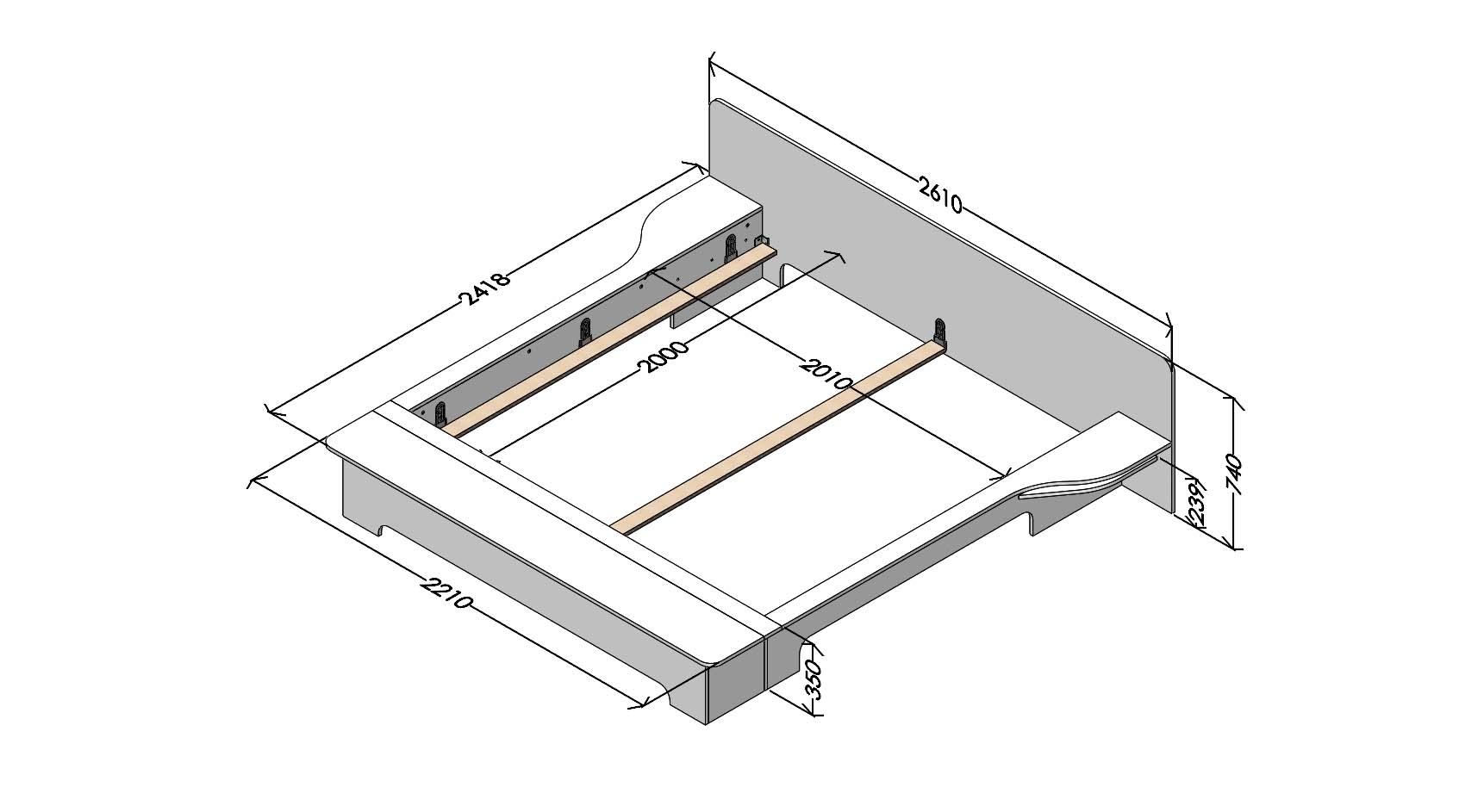plane doppelbett wei mit bettkasten. Black Bedroom Furniture Sets. Home Design Ideas