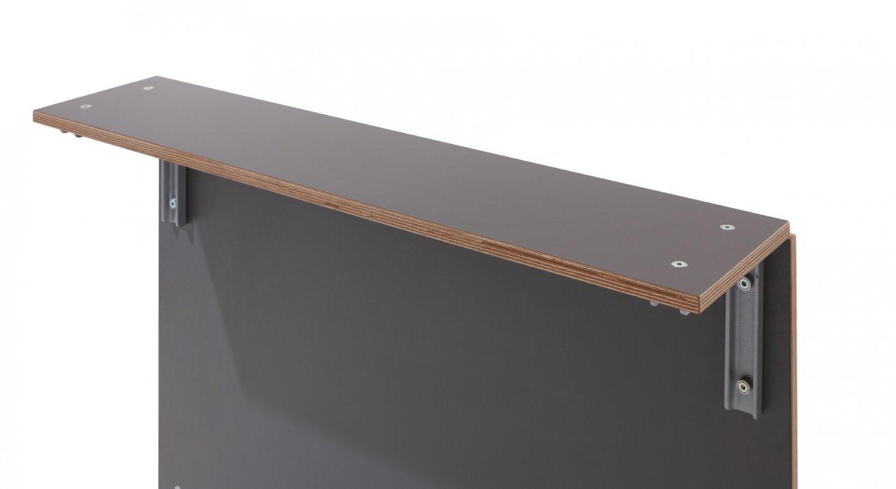 Sofabank Seitenablage anthrazit
