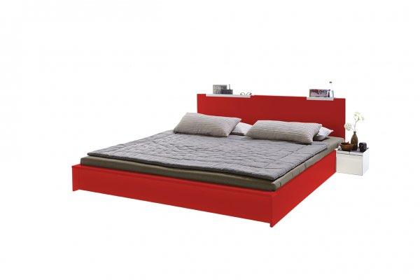 Flai Bett lackiert tomatenrot RAL 3013