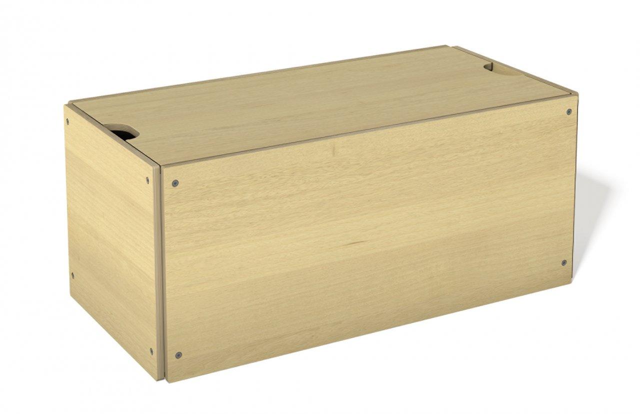 bettkasten mit deckel ahorn stapelliege klassik betten. Black Bedroom Furniture Sets. Home Design Ideas
