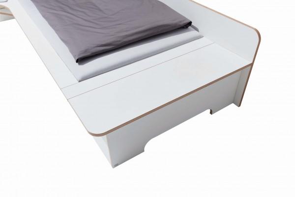 Plane Einzelbett Bettkasten
