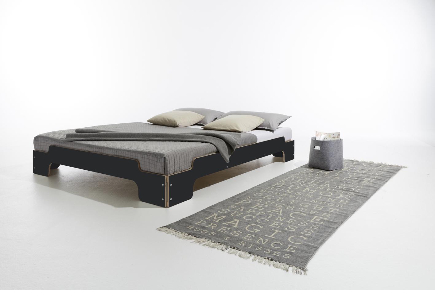 Stapelliege Komfort schwarz matt Detailbild 1
