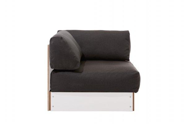 Sofabank Eckelement weiss