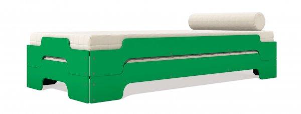 Stapelliege Komfort, doppel, übereinander, Verkehrsgrün Farbton