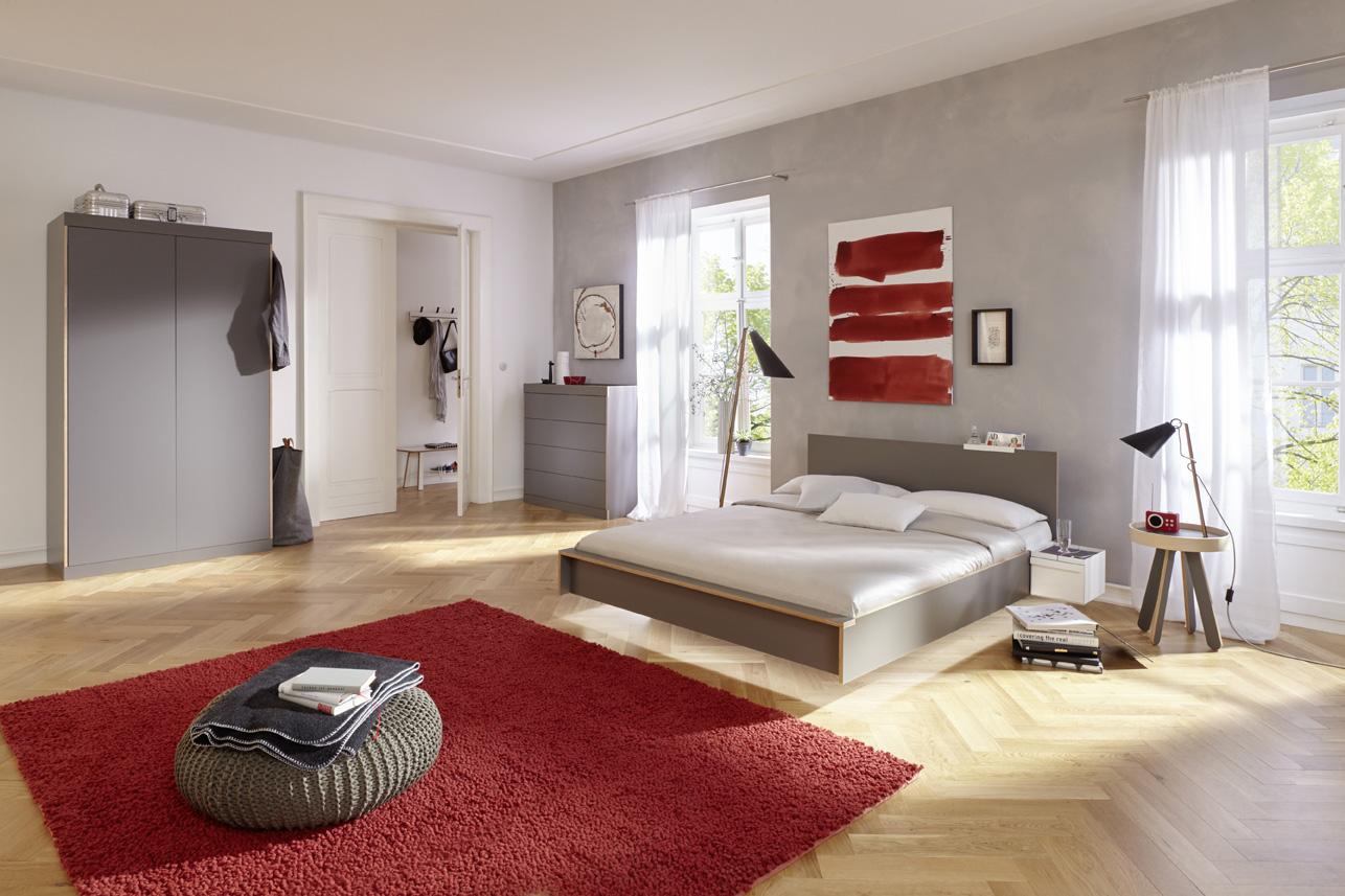 FLAI Doppelbett anthrazit Detailbild 2