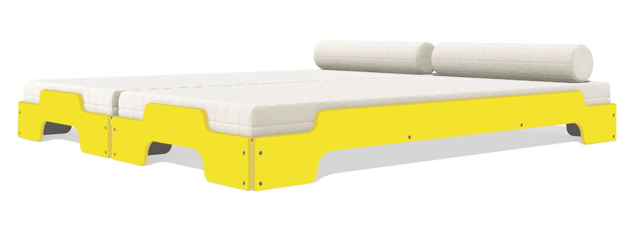 Stapelliege Komfort farbig lackiert