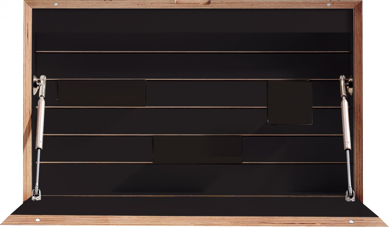 FLATBOX schwarz matt