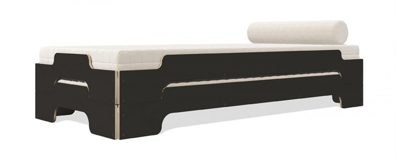 Stapelliege Komfort HPL schwarz matt