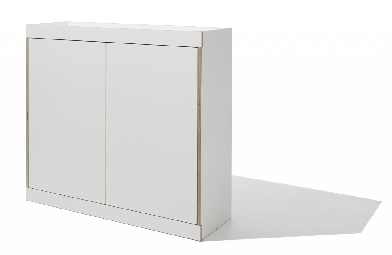 FLAI Kommode weiß (zwei Türen)