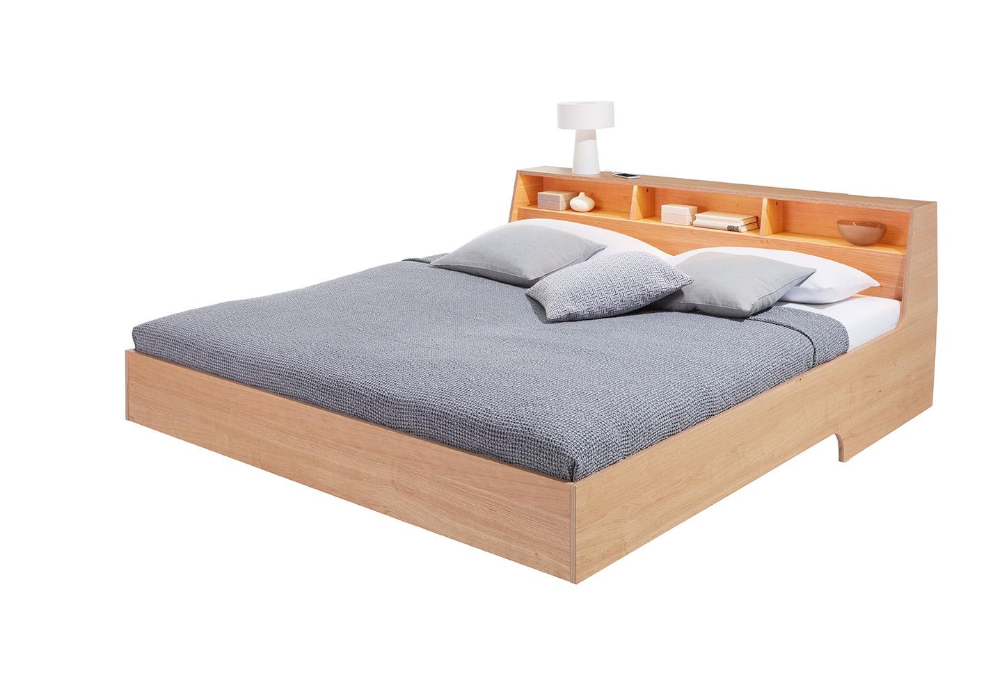 slope bett eiche. Black Bedroom Furniture Sets. Home Design Ideas